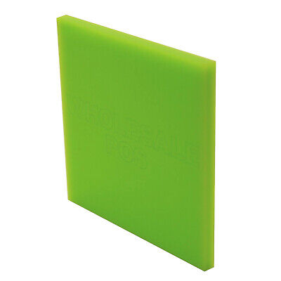 Lime Green Coloured Perspex 3Mm Thick Acrylic Sheet Custom Cut Panels Free P&p