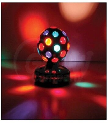 "8"" Ball Disco Lighiting Effect Party Dj Rotating  Multi Coloured Black"