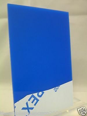 Blue 7033 Coloured Perspex 3Mm Thick Acrylic Sheet Custom Cut Panels Free P&p