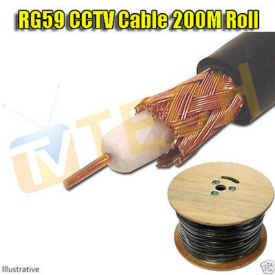 RG59 Cable 200M CCTV Cable Free Irish Delivery