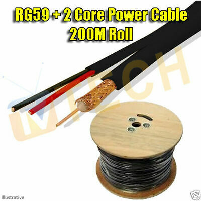 RG59 + 2 Core Power CCTV Cable 200M Roll Free Irish Delivery