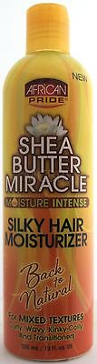 African Pride Shea Butter Miracle Silky Intense Hair Moisturizer 12 Fl. Oz.