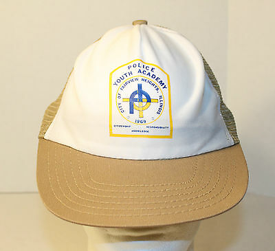 Vintage 1969 Police Youth Academy Fairview Heights Il Snapback Hat Illinois Cap