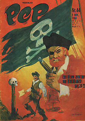 PEP 1968 nr. 44 - ROODBAARD (COVER)/ROGER PINGEON (POSTER)/HOVERCRAFT