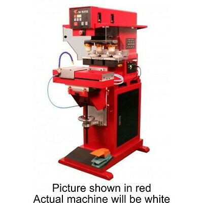 Three color automatic pad printer with Pneumatic Shuttle - Free Shipping