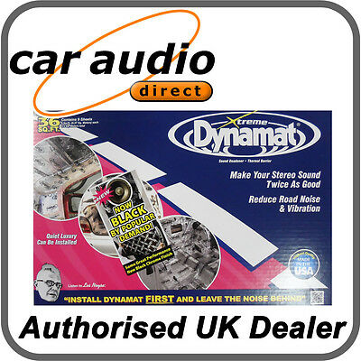 Dynamat Xtreme Extreme Bulk Pack Car Sound Deadening Proofing DYN10455 Black
