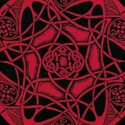 Handmade Cotton Heavy Celtic Wheel Tie Dye Tapestry Tablecloth Spread 88x104 Red
