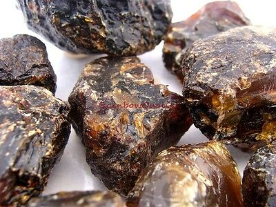AMBER Rough Rocks - 1/2 Pound Lots - Nice Amber and Black Color.  See Photos.