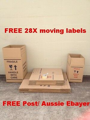 10 X 100L Moving Boxes + 15 X 50L Moving Boxes Removalist Package Deal