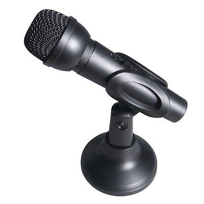 Desktop Microphone with Adjustable Computer Desk Stand PC Laptop Mic VoIP Skype
