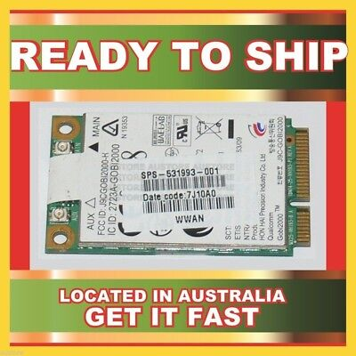Genuine 531993-001 Hp 3G/Hspa 7.2Mbps Wwan Mini Card For 2540P 2740P 8440P
