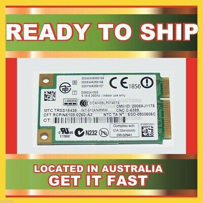 Genuine Trss18438 Intel Wifi 802.11A/B/G/Draft-N Mini Pcie Card For 2200