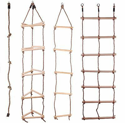 Kids Wooden Rope Ladder Climbing Rope For Timber Climbing Frame Selection!