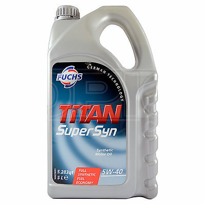 Fuchs TITAN SUPERSYN 5W-40 Fully Synthetic Engine Oil 5W40 5 Litres 5L