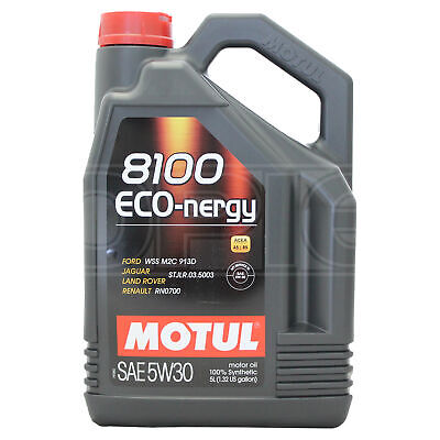 Motul 8100 Eco-nergy 5W-30 5W30 Fully Synthetic Engine Motor Oil 5 Litres 5L