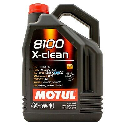 Motul 8100 X-clean 5W-40 Fully Synthetic Engine 5W40 Motor Oil 5 Litres 5L