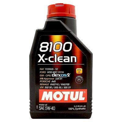 Motul 8100 X-clean 5W-40 Fully Synthetic Engine 5W40 Motor Oil 1 Litre 1L