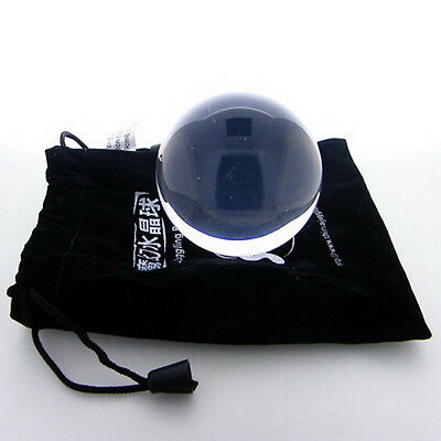 Pouch Lovely Clear Pink Translucent Acrylic contact Juggling ball 50mm 85g