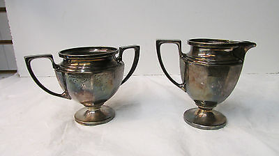Vintage Silverplate Universal SPNS 84400 Sugar and Creamer 84460 Set