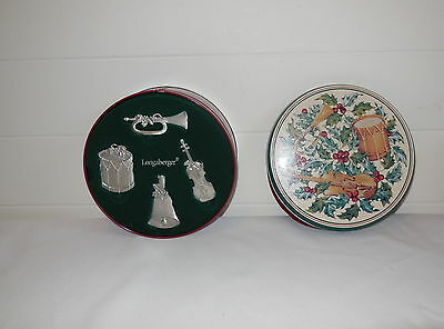 Longaberger 2003 Sounds Of The Season Ornaments New In Box