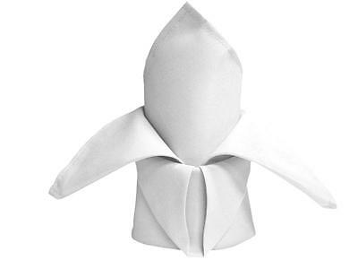 """25 White Polyester 20x20"""" Wedding NAPKINS Party Table Linens Decorations"""