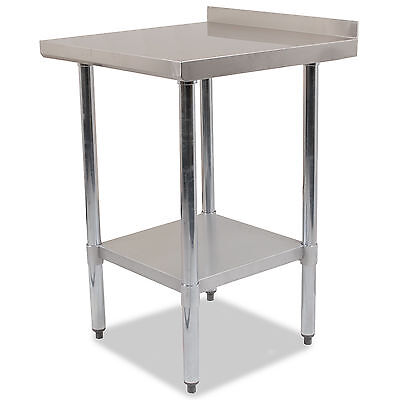 """STAINLESS STEEL COMMERCIAL CATERING HOME KITCHEN 24x24"""" SPLASHBACK TABLE BENCH"""