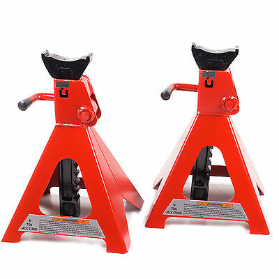 6 Ton Home Diy Garage Mechanic Workshop Tuv Heavy Duty Axle Stands 12 Ton Pair