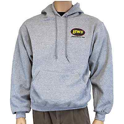 Lews Lew's Gray Hoodie Large 50%Cotton/50% Polyester Sweatshirt  NEW