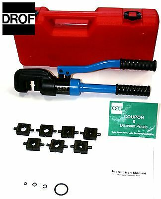 3 TOOLS*12 TON Electric Terminal Wire Cable Crimping Tool Hydraulic Crimper DROF