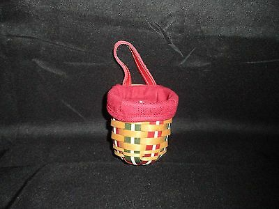 Longaberger Holiday Small Foyer Basket with liner