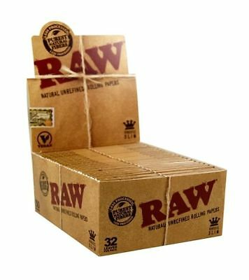 50 Packs Raw Classic Rolling Paper King Slim Natural Unbleashed Full Box