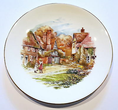 Beautiful Royal Worcester Cabinet Plate Country Path