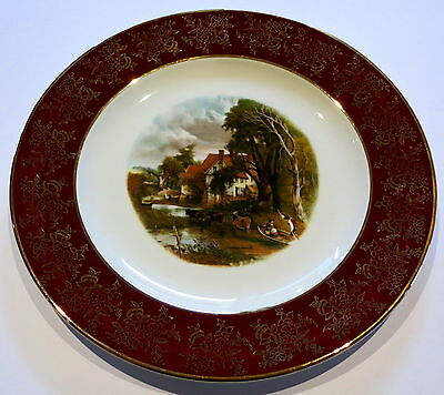 Vintage Weatherby Royal Falcon Cabinet Plate Country Scene