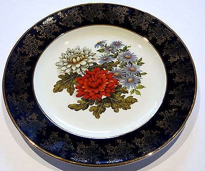 Vintage Weatherby Royal Falcon Cabinet Plate Flowers