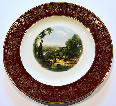Vintage Weatherby Royal Falcon Cabinet Plate River Scene