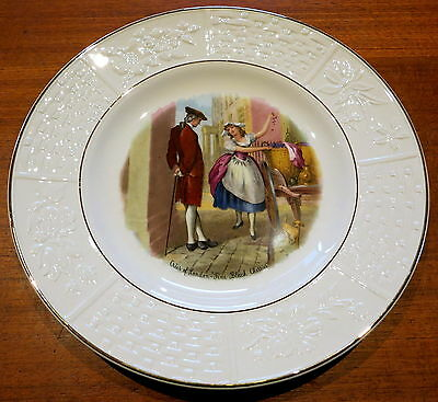 "Weatherby Royal Falcon Cabinet Plate Cries Of London ""fine Black Cherries"""