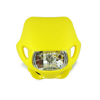 Yellow Enduro Front Head Light 12V Halogen Suit Dirtbike Trail Bike Motorcycle
