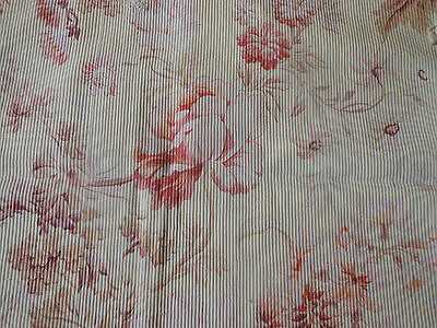 Antique Shabby French Faded Floral Cotton Fabric ~ Rose Pink Lavender