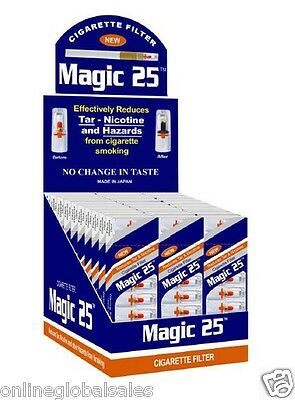 Magic25 Cigarette Filters 30 Packs (300 Tips) w/Free Efficient Filters
