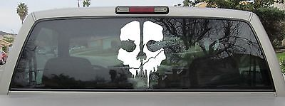 Call of Duty Ghosts Skull Logo Sticker Window Wall Decal iPhone - Choose Size