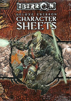 Dungeons & Dragons-D&D-EBERRON-Deluxe Character Sheets-RPG-d20-OVP-New-Neu-rare
