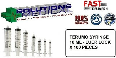 100 x 10ml Syringe Terumo Luer Lock  - Syringes only - No Hypodermic Needle
