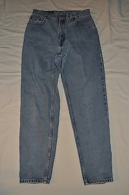 LEVIS 550 WOMEN 11 jr  M red TAG BLUE  DENIM relaxed  FIT TAPERED LEG JEANS EUC
