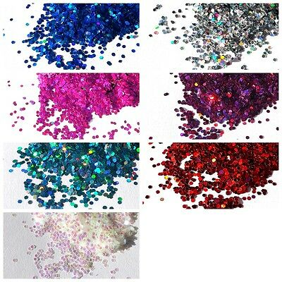 Craft HEXAGON GLITTER 1mm Iredescent & Rainbow Holographic Sparkling Glitter
