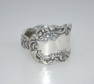 Florida 1894 Vintage Silver Spoon Ring