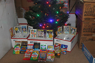 Great Christmas gift...  Unopened Vintage Baseball Cards. Huge Lot!