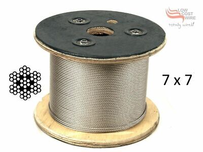 200M Marine Stainless Steel 316 Wire Rope Cable Balustrade Decking 7x7 3.2mm