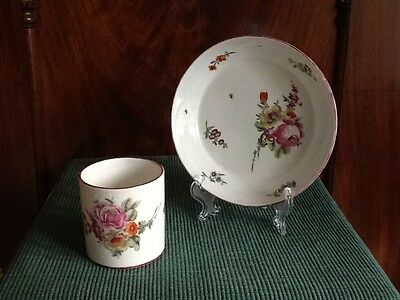 Belle Tasse Litron & Coupelle - La Courtille - Porcelaine De Paris- Cup & Saucer