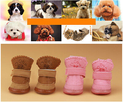 Warm Winter Cozy Pet Dog Boots Puppy Shoes 2 Colors For Small Dog SIZE #1-#5