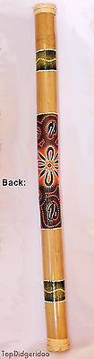 "VINTAGE 39"" Ethnic Rain Stick Dot-Painted Rainmaker RainStick Shaker Percussion"